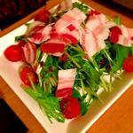 パンチェッチと水菜のサラダ