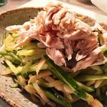 鶏ササミときゅうりのナムル