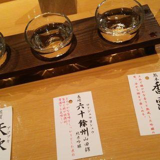 利酒セット(ぬる燗佐藤 御殿山茶寮)