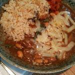 大豆と山菜のカレー