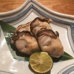 牡蠣の塩焼き