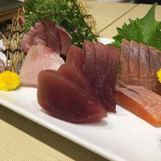 日代わりの鮮魚刺身三点盛り(美食 × 個室居酒屋 港‐MINATO)