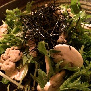鶏せせりとマッシュルームのサラダ(円らく 高田馬場荘 (えんらく たかだのばばそう))