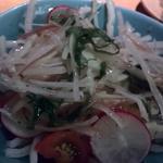 大根と梅しそのサラダ