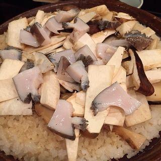鮑松茸の炊き込み御飯(櫻川 (さくらがわ))