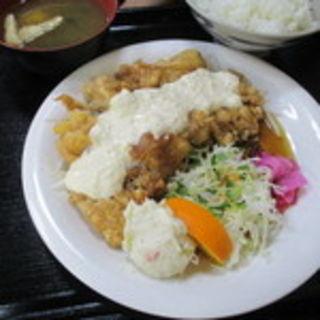 チキン南蛮定食(朝昼晩 (アサヒルバン))