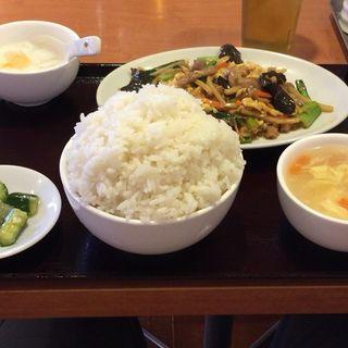 豚肉きくらげ卵炒めランチ(東海嘉宴 (中華居食屋))