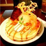 季節のパンケーキ 白桃