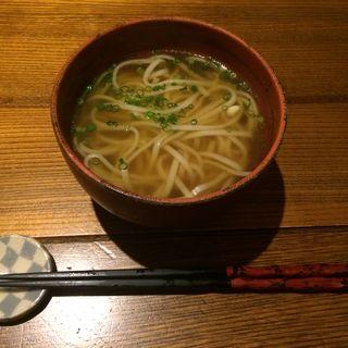 鶏スープ稲庭うどん(猿のしっぽ (さるのしっぽ))