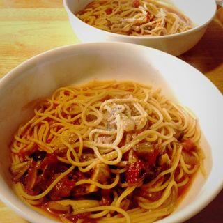 パスタランチ…トマト。(トラットリア トッティ)