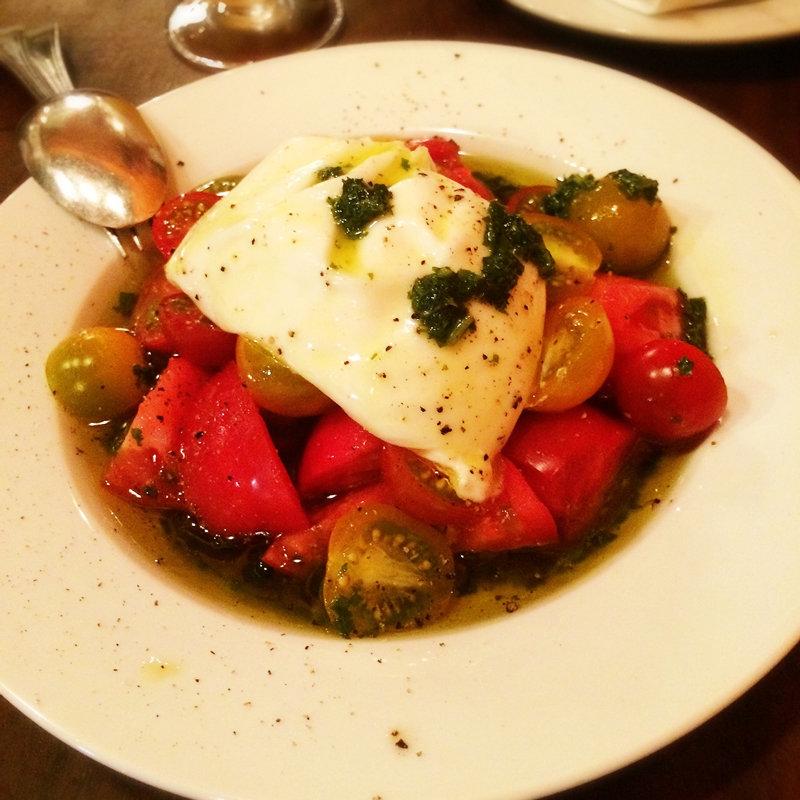 ブラータとトマト