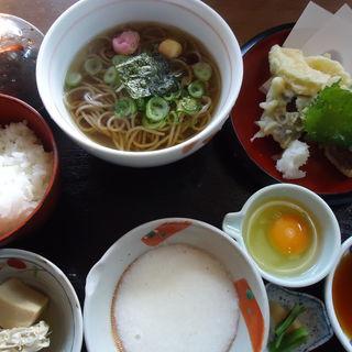 天ぷらそば定食(くずし御膳山吹)