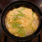 白魚、ウド、三つ葉 卵とじ