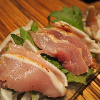 新鮮朝挽き 当日仕立て 鶏のお刺身3点盛り合わせ(俺たちのとりとん (おれたちのとりとん))