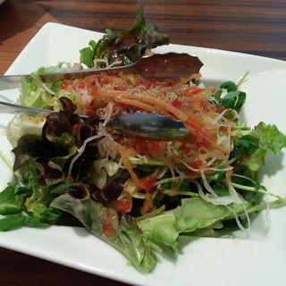 キンピラゴボウと水菜と大根のサラダ(楽 RAKU SUPA店 (ラク))