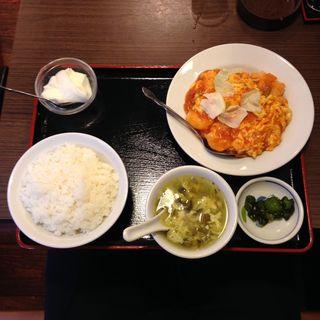 海老卵炒め定食(勇記餃子房 (ユウキギョウザボウ))
