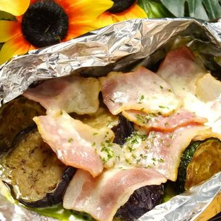 秋野菜のホイル焼き(シャカリキ)