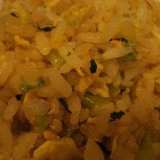 蟹とレタスの炒飯(善道)