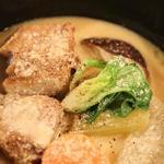 ヤシオポークと野菜のクリーム煮