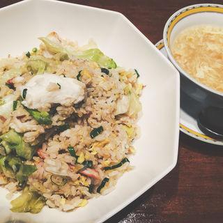 たらば蟹とレタスの炒飯(銀座アスター 新宿賓館  )
