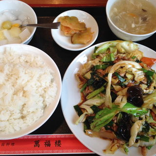 豚肉野菜炒め定食(萬福楼 (万福楼 マンプクロウ))
