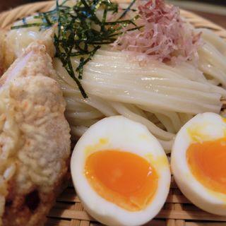 桜島鶏ささみ天と豚バラつけ麺(福来たる )