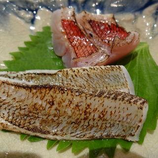 鯛と金目の炙り二種(仙太 )