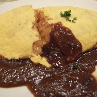 チーズ入りオムライスデミグラスソース(卵と私 京都ポルタ店 )