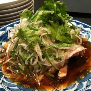 蒸し鶏葱醤油ソース(中国料理 四川  (シセン))