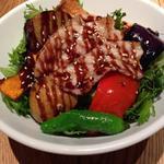 豚丼バルサミコ酢ソース