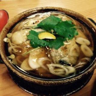 牡蠣の小鍋仕立て(明月庵 ぎんざ 田中屋 銀座本店 (めいげつあんぎんざたなかや))