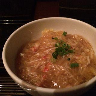 フカヒレの上海蟹味噌風味あんかけ黄金チャーハン(中国料理 カリュウ (かりゅう Karyu))