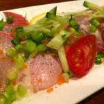 五種類の鮮魚のカルパッチョ盛り
