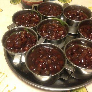 あずきと抹茶のプチパフェ(まるごと食堂)