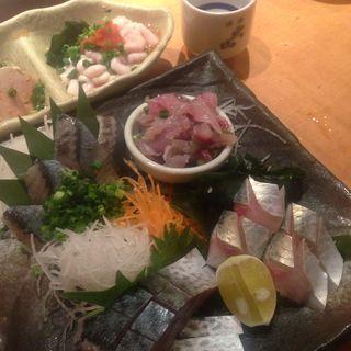 刺身盛り(魚真 渋谷店 (うおしん))