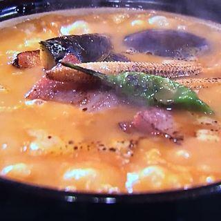 ごろごろ野菜トマトクリームのおうどん(い蔵 (伝統自家製麺 い蔵))