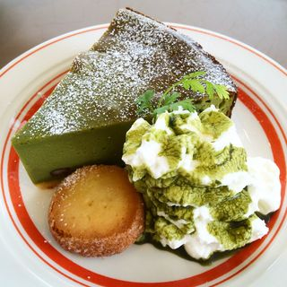 抹茶あずきチーズケーキ(パークカフェ )