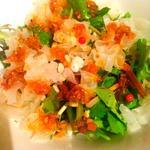 モーツアルト野菜と白木茸のサラダxo醬ドレッシング