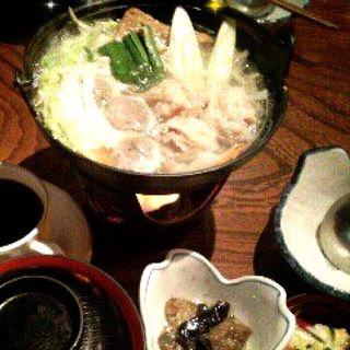 鶏ちゃんこ鍋定食(江戸沢 両国店 (えどさわ))
