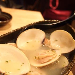 地蛤のバター蒸し