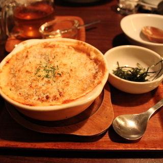 鶏そぼろと里芋の豆乳グラタン(和カフェ yusoshi)