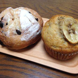 チョコのパン&バナナのマフィン(リエート (Lieto coffee bread and slow time))