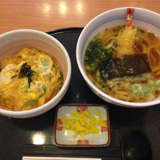 天ぷらうどんとミニ卵丼セット(うどん王 神戸住吉店 )