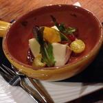 かぼちゃ×サツマイモ×焼きベーコンの菜園サラダ