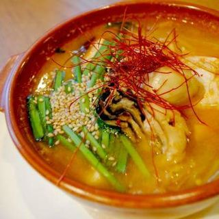 牡蠣とネギの味噌スープ(スナンカフェ (Sunan Cafe))
