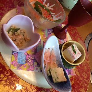 前菜プレート5種盛り(甲羅 西尾店 )
