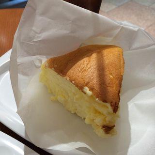 焼き立てチーズケーキセット(りくろーおじさんの店 (新)なんば本店  )