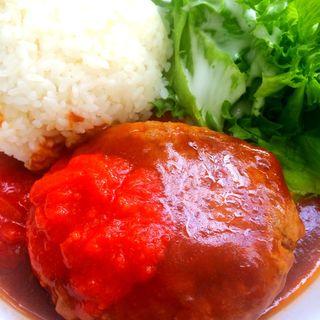 煮込みハンバーグプレート(ミライカン カフェ (Miraikan Cafe))