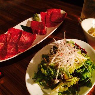 お肉3種盛とサラダ(焼肉 芝浦 (シバウラ))