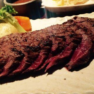 国産牛 ステーキ定食(炭火焼神戸牛いく田 (イクタ))
